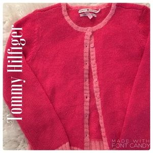 Tommy Hilfiger Two-Tone Hot Pink Cardigan